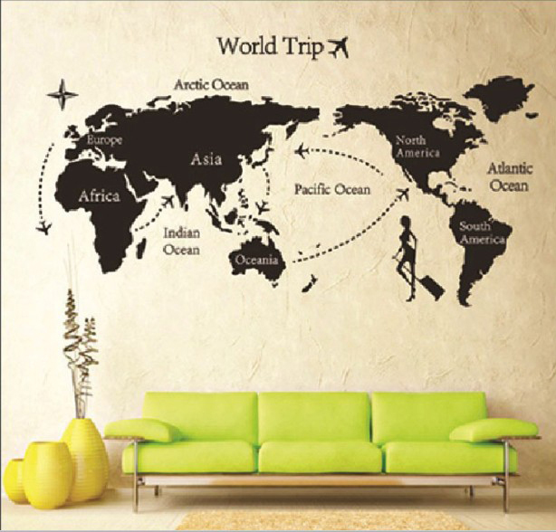 The world on your wall!