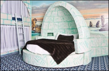 igloo theme bed-fun winter theme bedrooms-arctic animals themed rooms