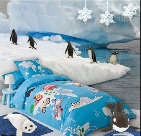 penguin bedding-penguin wall murals-penguin bedding-penguin wall murals