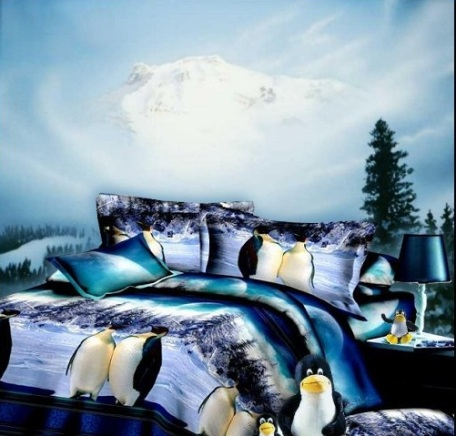 penguin bedding-Through The Eye Of God wall mural