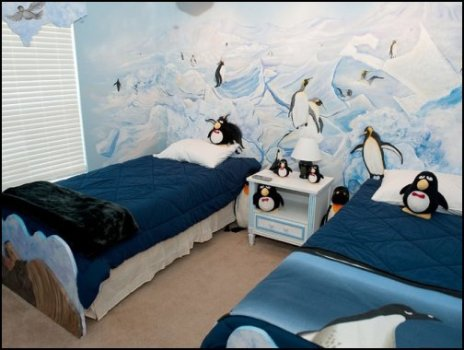 penguin theme bedrooms-polar bear theme bedrooms-winter wonderland theme